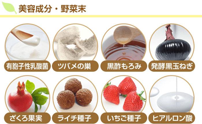 ■美容成分・野菜末